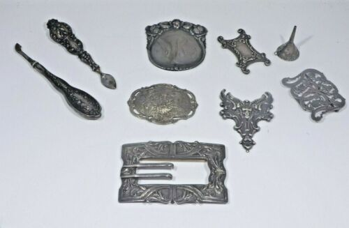 A COLLECTION OF STERLING SILVER VICTORIAN ODDITIES 70 DWT