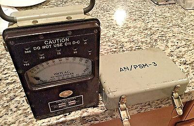 Vintageac Voltmeter-me 59psm-3-50-1000 Cycles Anpsm-3ln