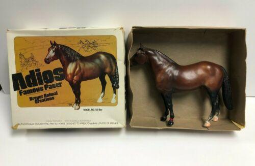 vintage Breyer ADIOS Famous Pacer Horse Bay No. 50 in original box