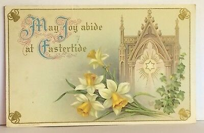 PostCard May Joy Abide At Eastertide Floral Cathedral Posted 4-14-1911 Vintage
