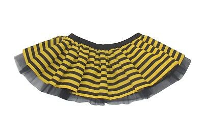 Bumble Bee Tutu (Ladies Bumble Bee Tutu Skirt Neon Yellow Black Striped Lengths 80's Fancy Dress )