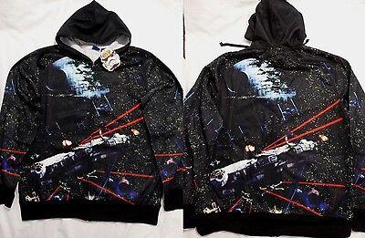 Star Wars Costume Hoodie (Star Wars Space Battles Millennium Falcon Costume Zip up Hoodie Jacket)