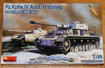 MiniArt 35302 : Dt. Panzerkampfwagen IV Aus.H VOMAG early prod. Kit 1:35 / OVP