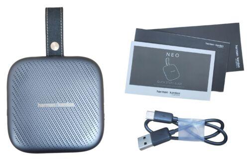 Harman Kardon Neo Portable Belt Clip Waterproof Wireless Bluetooth Speaker Gray