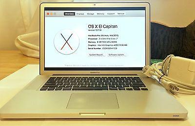 "15"" 2012 Apple MacBook Pro: 2.3-3.3 Ghz core i7, 8GB RAM, 1TB HD, Charger Bundle"