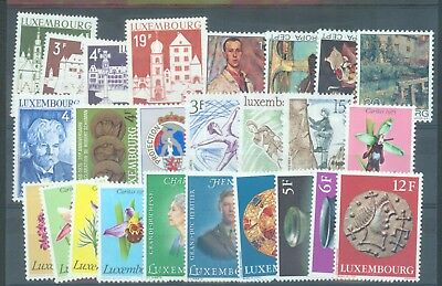 Luxembourg 1975-6 sg.943-67 all in complete sets 25 stamps MNH