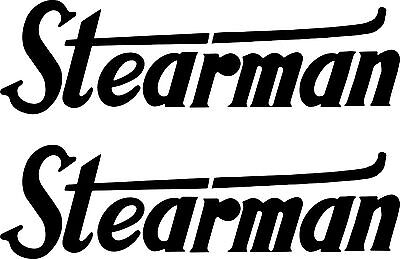 2 STEARMAN Vintage Decals FREE SHIPPING