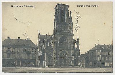 AK Gruss aus Pfalzburg - Kirche - Geschäftshaus (J269)