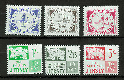 Great Britain Jersey Sc#J1-J6, Postage Due Stamps #4984