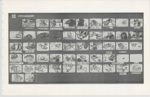 Great Mouse Detective Walt Disney Production Animation Storyboard Sheet 1986 268