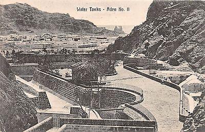 Middle East postcard Aden Water Tanks Yemen