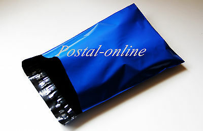 100 x Blue Plastic Mailing Bags 13 x 19 13x19 330x485 mm LARGE envelopes poly