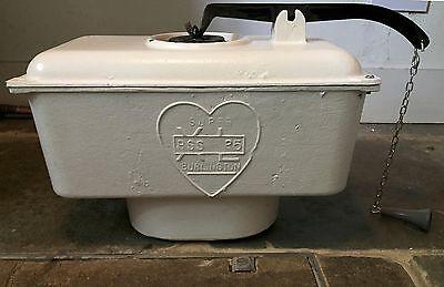 Antique Burlington Cast Iron High Level Toilet Cistern