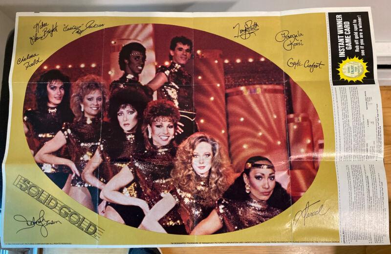 Solid Gold TV Show Dancers Sugar Crisps Cereal Poster Game Premium Prize 1984