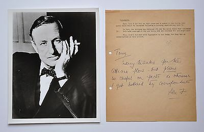 IAN FLEMING~ALS SIGNED, TO SPY ANTHONY TERRY, author of Casino Royale & 007 Bond
