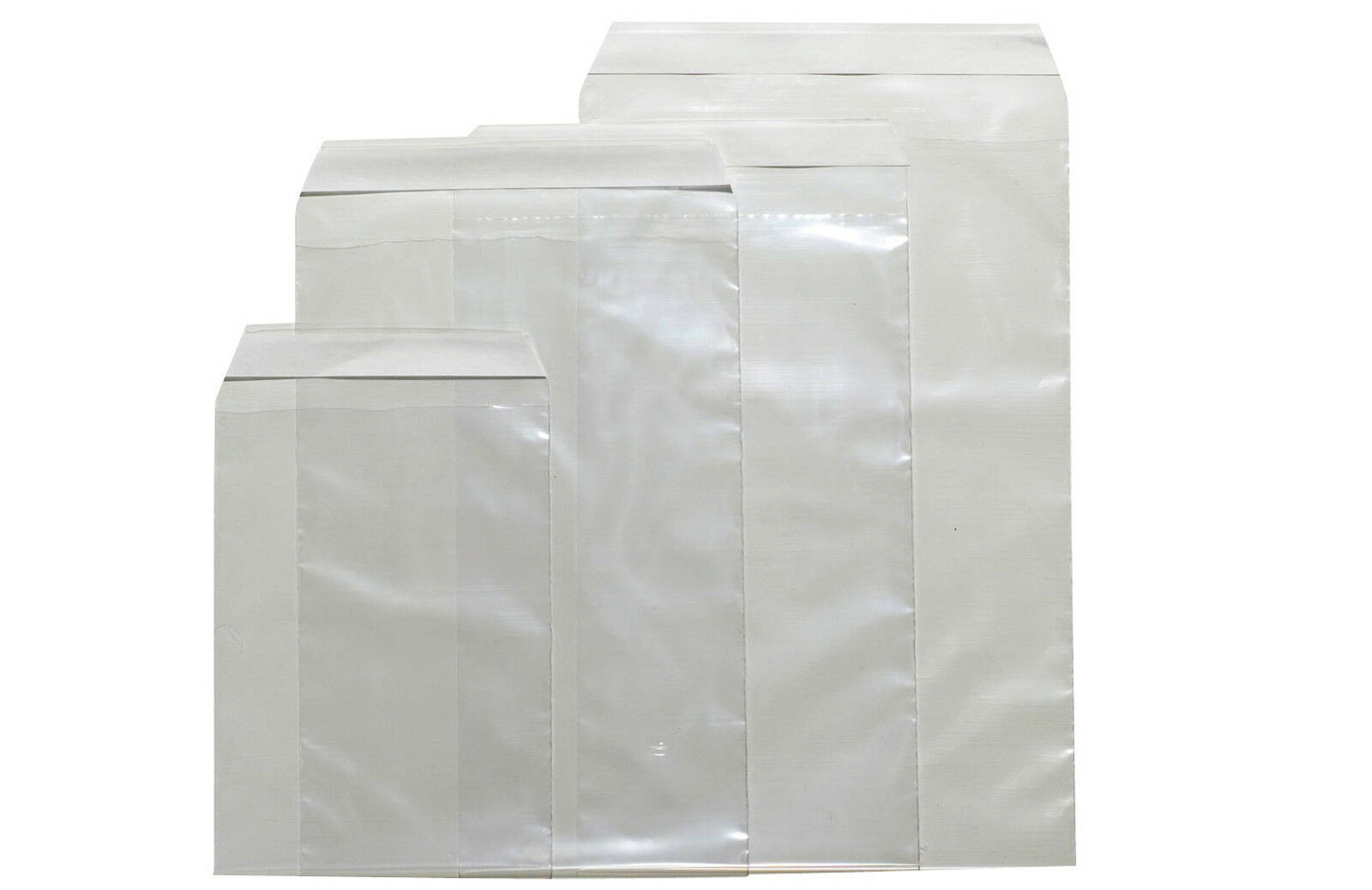 100 - 1000 transparente Folienversandtaschen mit Haftklebung Versandtasche