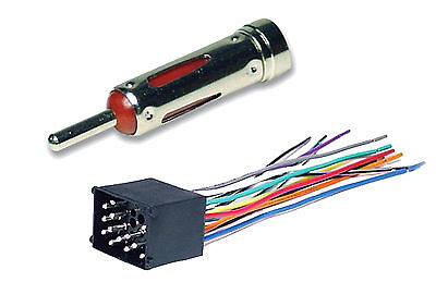 Car Stereo Wire (BMW Complete Car Stereo Radio CD Player Installation Kit Wire Harness & Antenna)