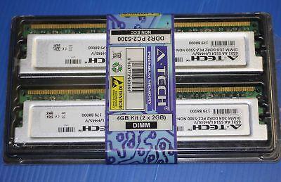4GB kit 2GBx2 DDR2 PC2-5300 DESKTOP Memory Modules 240-pin DIMM,