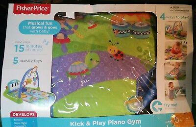 Fisher Price Baby Kick   Play Piano Gym   Blue