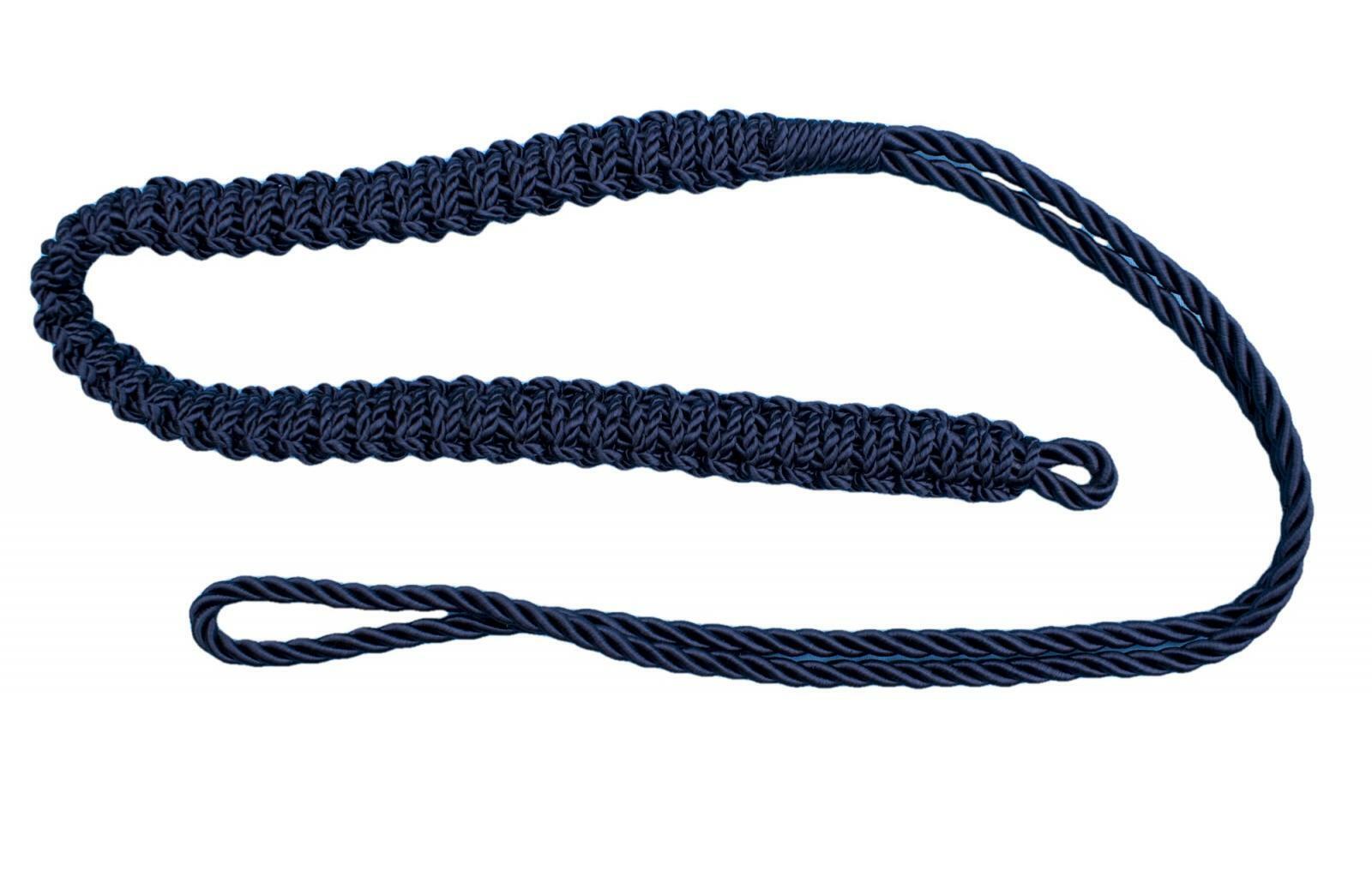 Lanyard Shoulder Cord Lanyard British Army Silk Navy Blue