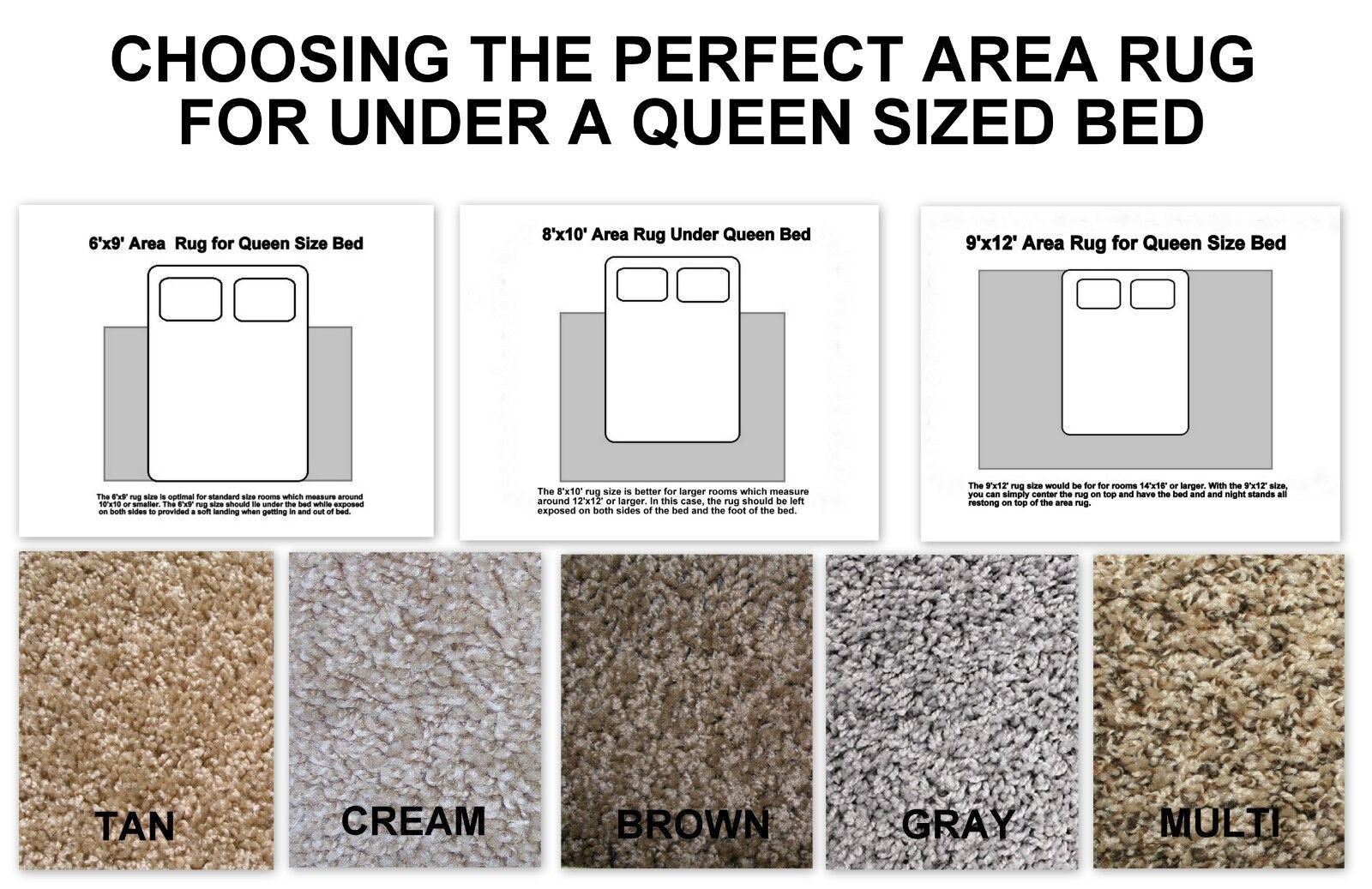 Choosing The Perfect Area Rug for Under A Queen Size Bed