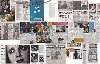 ELTON JOHN : CUTTINGS COLLECTION  -magazine articles-