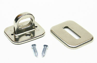 Desktop Anchor Plate for Computer Security Cable Lock ~ Screw & Glue ~ Set of 2 Desktop Locking Cable Anchor