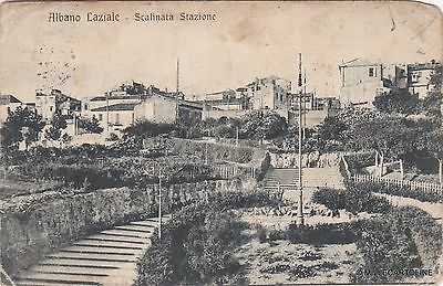 # ALBANO LAZIALE: SCALINATA STAZIONE  - 1919