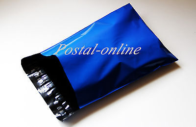 500 x Blue Plastic Mailing Bags large shoe box 13 x 19 13x19 330x485 mm 500x