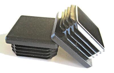 4 Pk - 1 12 Square Tubing Plastic Plug 1-12 Inch End Cap 11-19 Ga 1.5 112