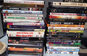 Lot of 33 DVD's. Lots of variety, less than a dollar each!