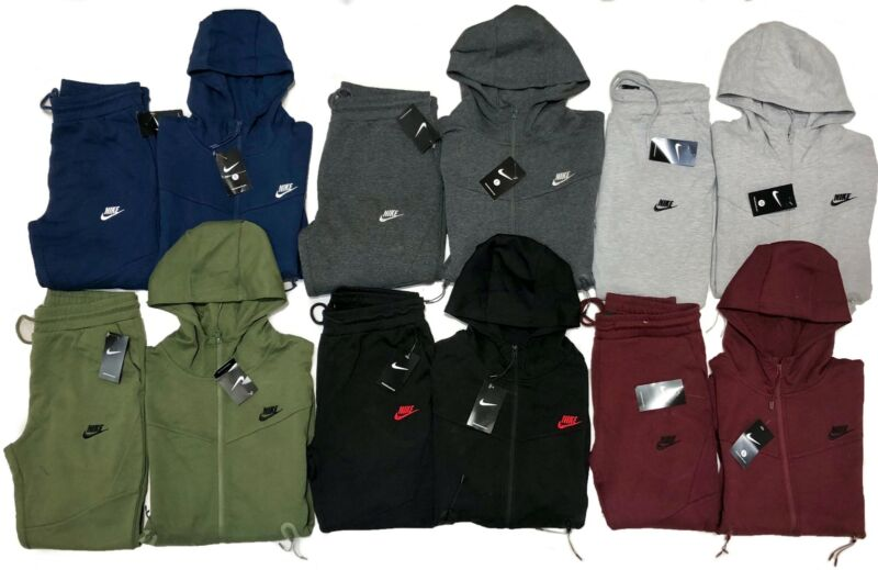 Nike Tech Fleece Sweatsuit Complete Set Hoodie & Joggers Full Zip Jacket