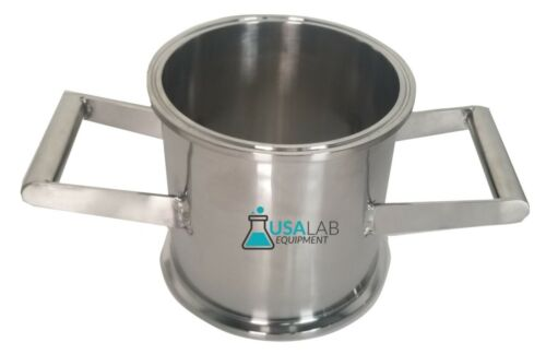 """STAINLESS STEEL 6"""" X 6"""" TRI CLAMP SANITARY SPOOL WITH HANDLES"""