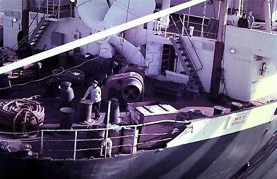 - 35mm Slide, Aft Deck of a ship / Vessel where Huge Propeller is being Stored