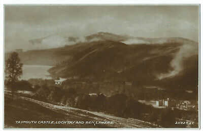 Kenmore - Taymouth Castle, Loch Tay, Ben Lawers - Postcard - By Valentines, #766