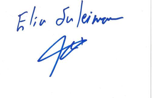 Elia Suleiman Autogramm signed 10x15 cm Karteikarte
