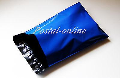 100 x Blue Plastic Mailing Bags 17 x 22 17x22 430x560 mm LARGE 100x envelopes