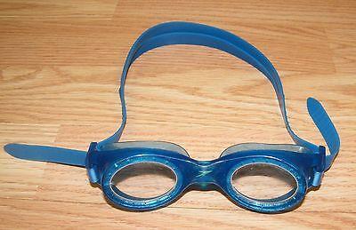 4bc1f7993d5 Genuine Speedo Clear   Blue Adult Swim Goggles w  Adjustable Strap   READ