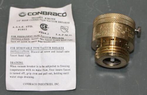 "Conbraco Vacuum Breaker 38304, 3/4"" GHT, 125 PSI, 180° F, Brass"