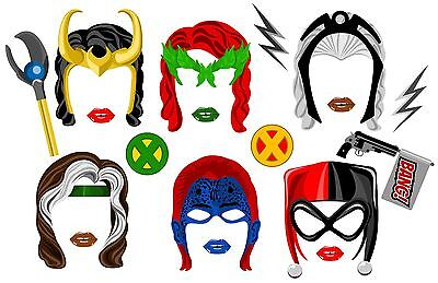 DIGITAL Super hero woman villains photo booth props NO PHYSICAL ITEM - Photo Booth Items