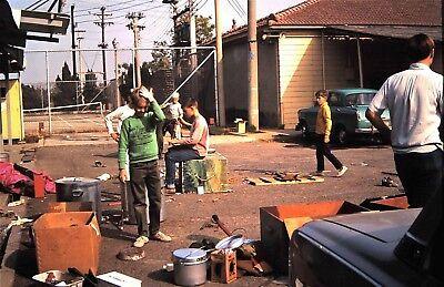 Orig 35mm Slide - 1971 - Boy Scouts - Troop doing Storeroom - 35 Mm Slide Cleaning