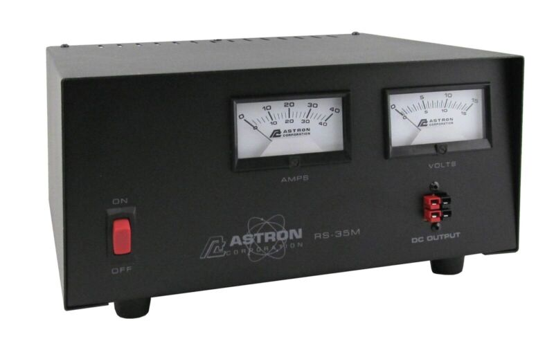 ASTRON POWER SUPPLY RS-35M-AP (latest model) 13.8VDC 35A. BRAND NEW W/ WARRANTY