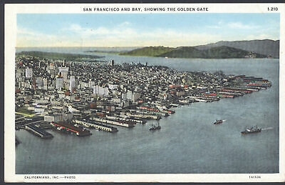 Kalifornien Post (Kalifornien Postkarte San Francisco & Bay,Showing Golden Gate 1932 Poststempel)