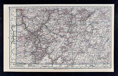 c1930 Hammond Railroad Map - SE Pennsylvania Pittsburgh Altoona Washington PA RR