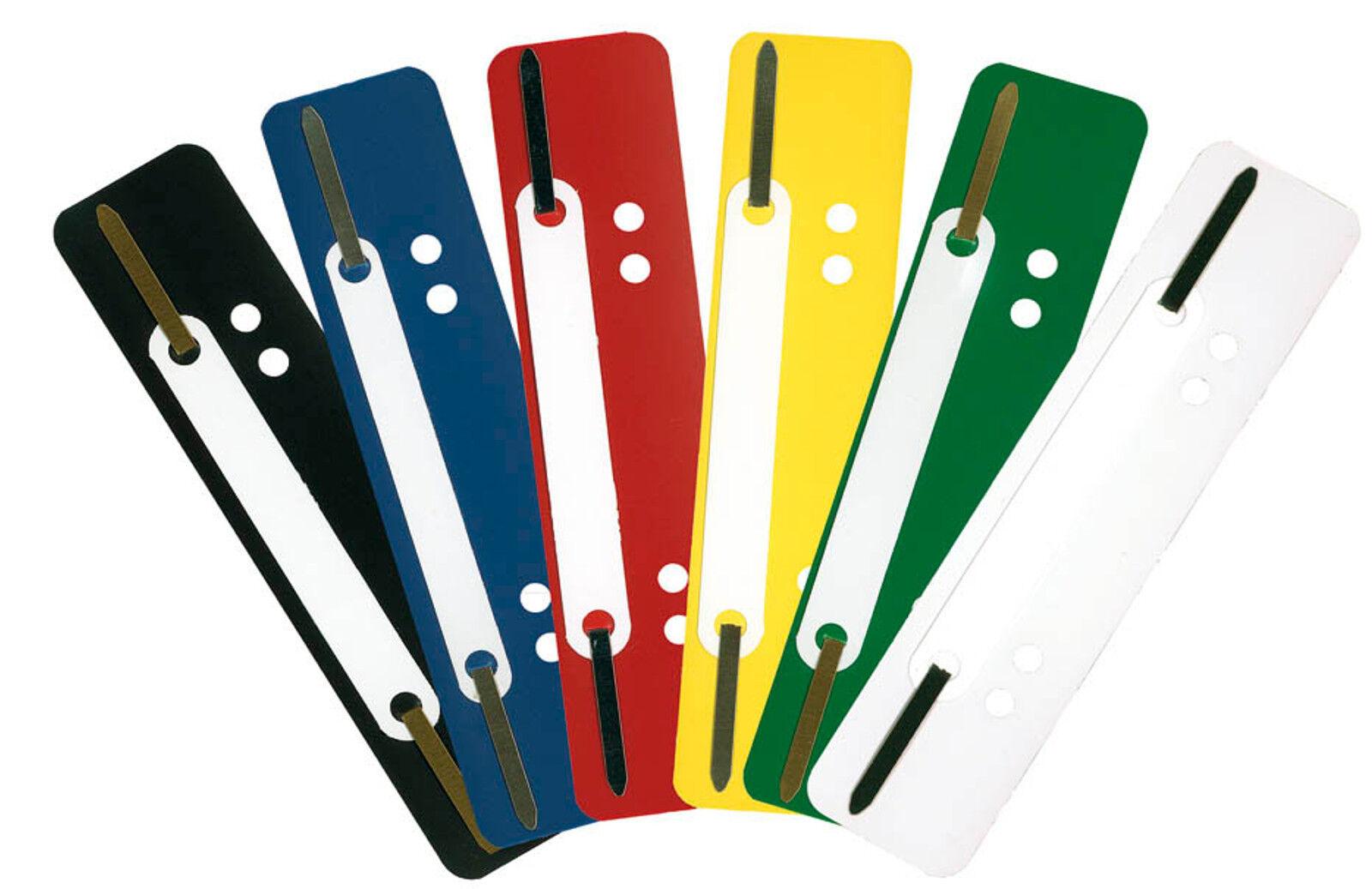 1000 Abheftstreifen Farbe frei wählbar Heftstreifen Kunststoff Deckleiste Dulli