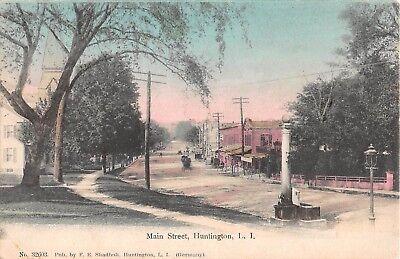 1908 Stores Main St. Huntington LI NY post (Huntington Stores)