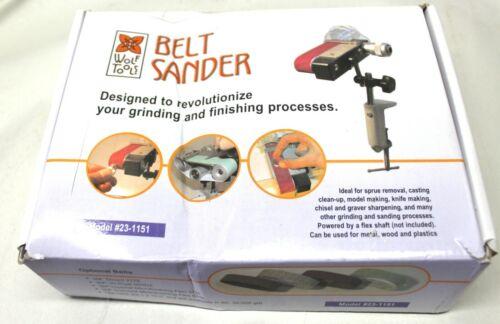 Bench Belt Sander Jewelry Model Making Sprue Grinding Smoothing Finishing Tool