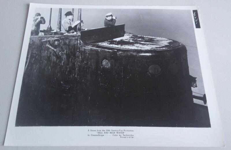 Hell And High Water '54 RICHARD WIDMARK GENE EVANS SUBMARINE