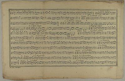 Fontainebleau NOTEN Orig Kupferstich um 1780 ORCHESTER MUSIK Notenblatt Rondeau  online kaufen