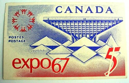 VINTAGE EXPO 67 POST CARD MONTREAL CANADA POSTMARK